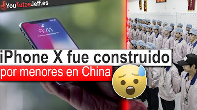 iPhone X, apple, china, menores