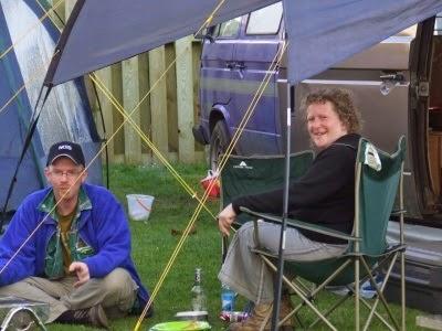 Camper van camping in Cornwall 2007