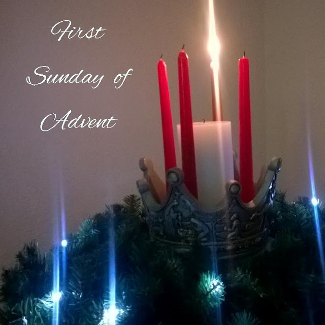 the first sunday of advent the prophecy candle. Black Bedroom Furniture Sets. Home Design Ideas