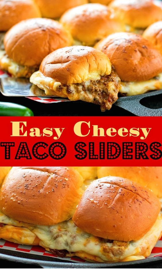 Easy Cheesy Taco Sliders
