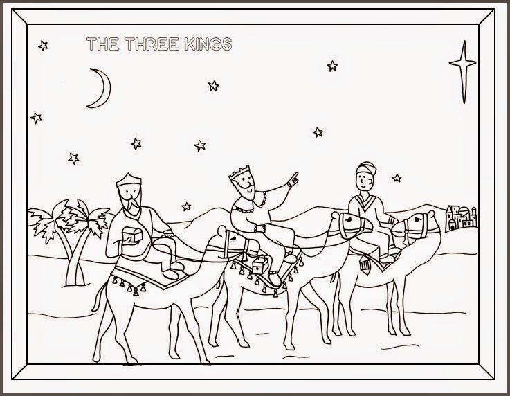 the three kings coloring pages - photo#18