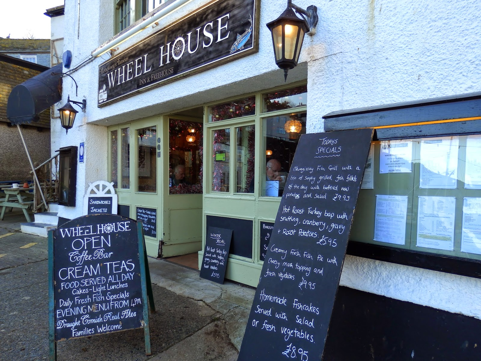 Wheel House restaurant Mevagissey Cornwall