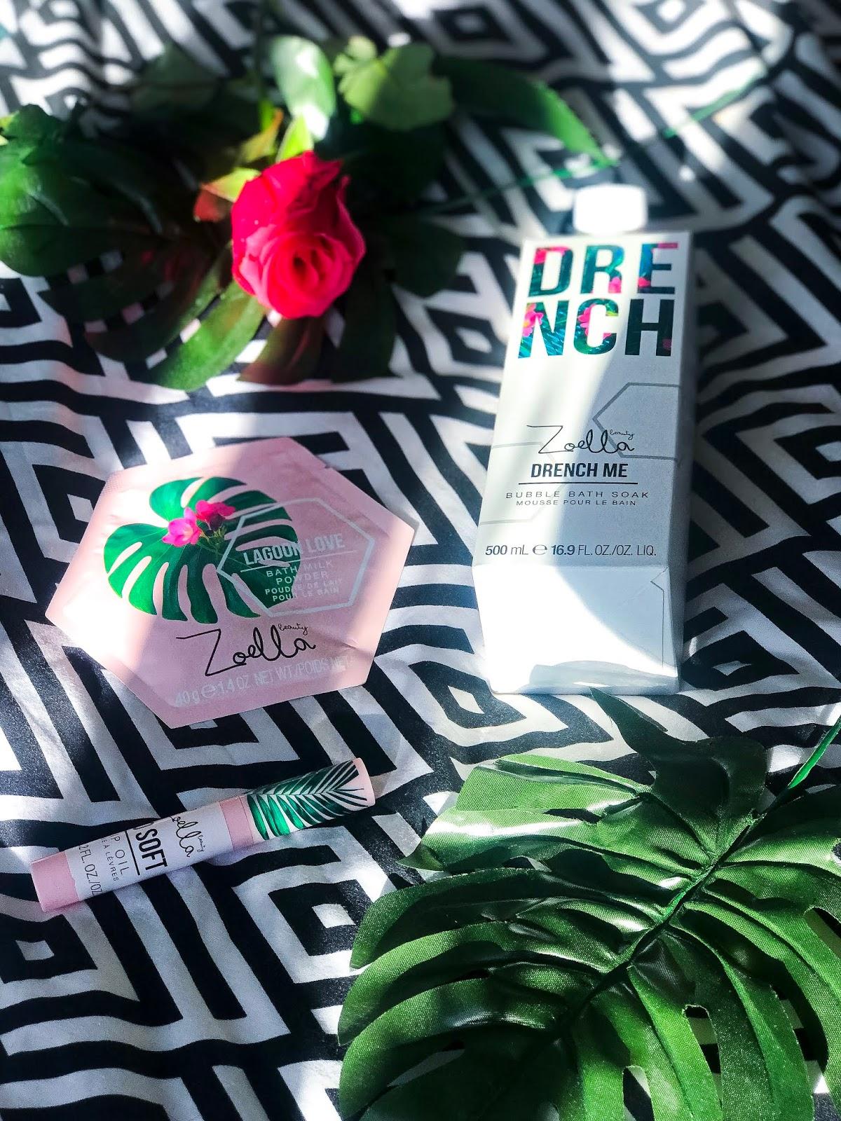 zoella beauty splash botanics review lip oil drench lagoon love