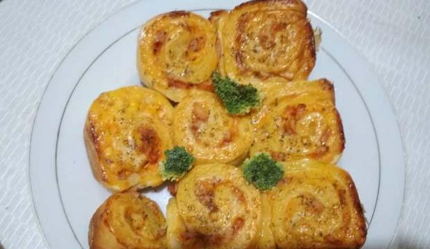 Resep dan Cara Membuat  SuPizza Rollper Empuk Enaknya Ketagihan