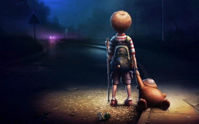 menino sozinho - solidão - reflexões sobre a vida