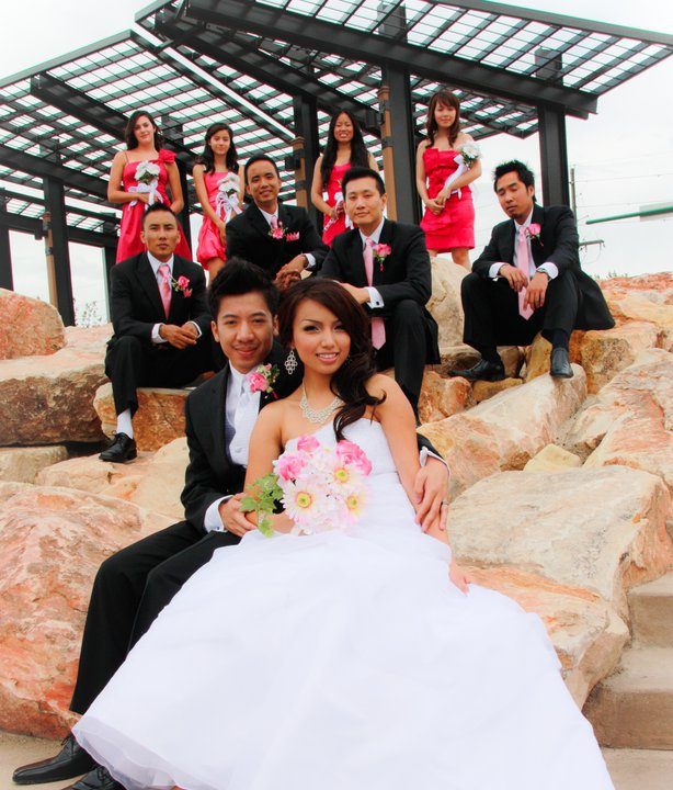 Image: Promise Tamang and Steve Phan on their wedding day