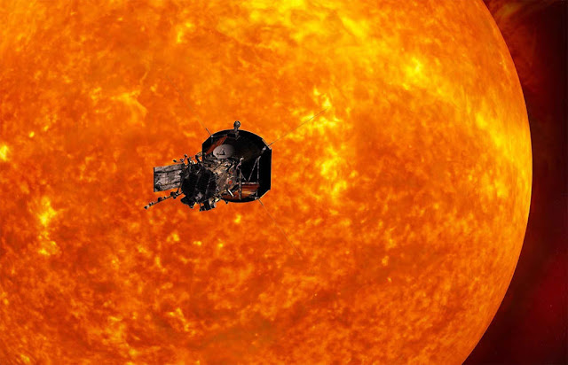 Ilustração artística da sonda Solar Probe Plus, que será enviada ao So