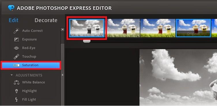 editar foto no photoshop express editor preto e branco e colorido