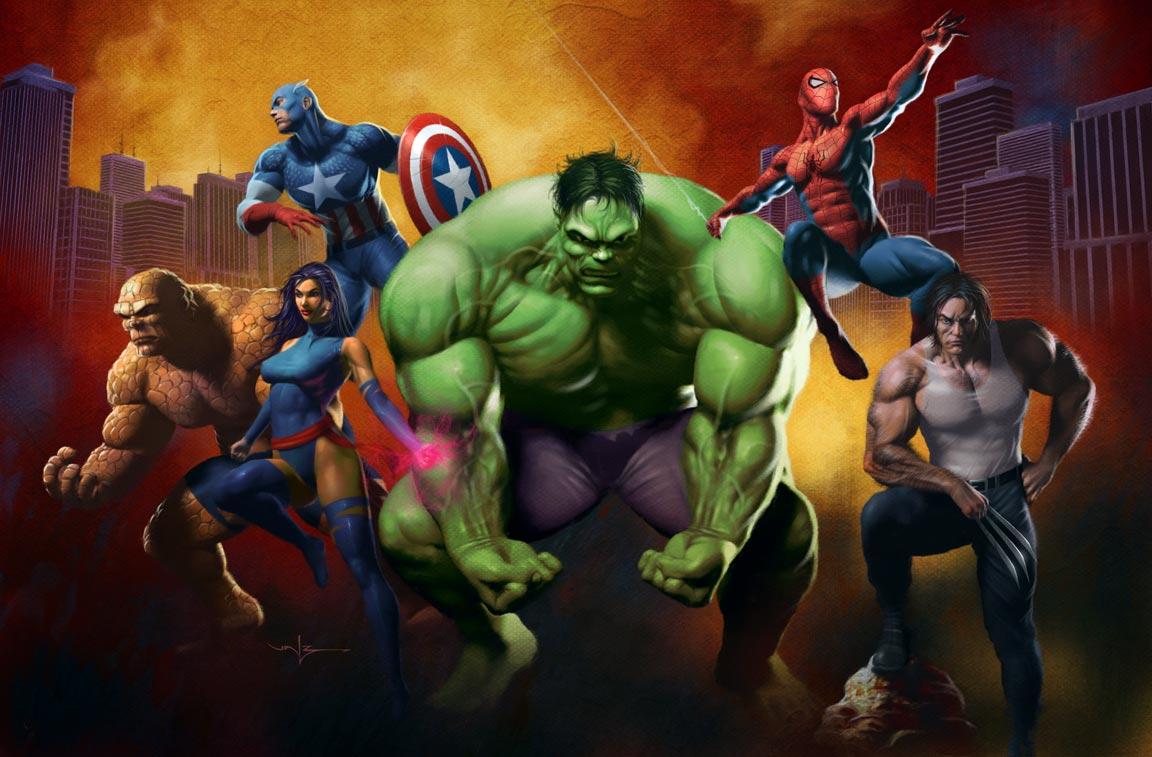 Whoa this is heavy me and my superhero childhood - Avengers superhero wallpaper ...