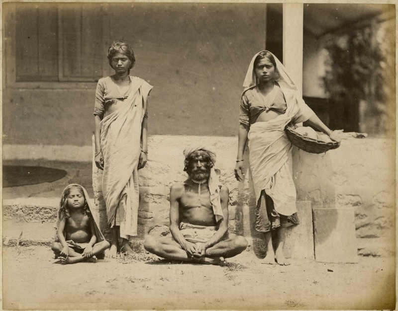 A Poor Indian Family - by Taurines Studio - 1880's