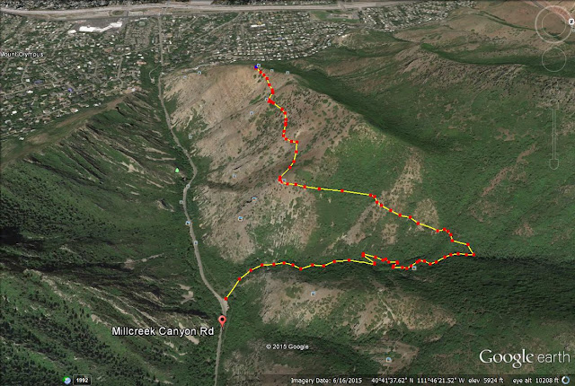 Rattlesnake Gulch, Millcreek trail map