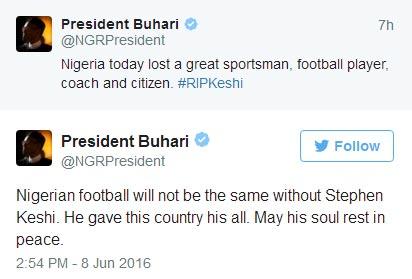 President Muhammadu Buhari mourns Stephen Keshi