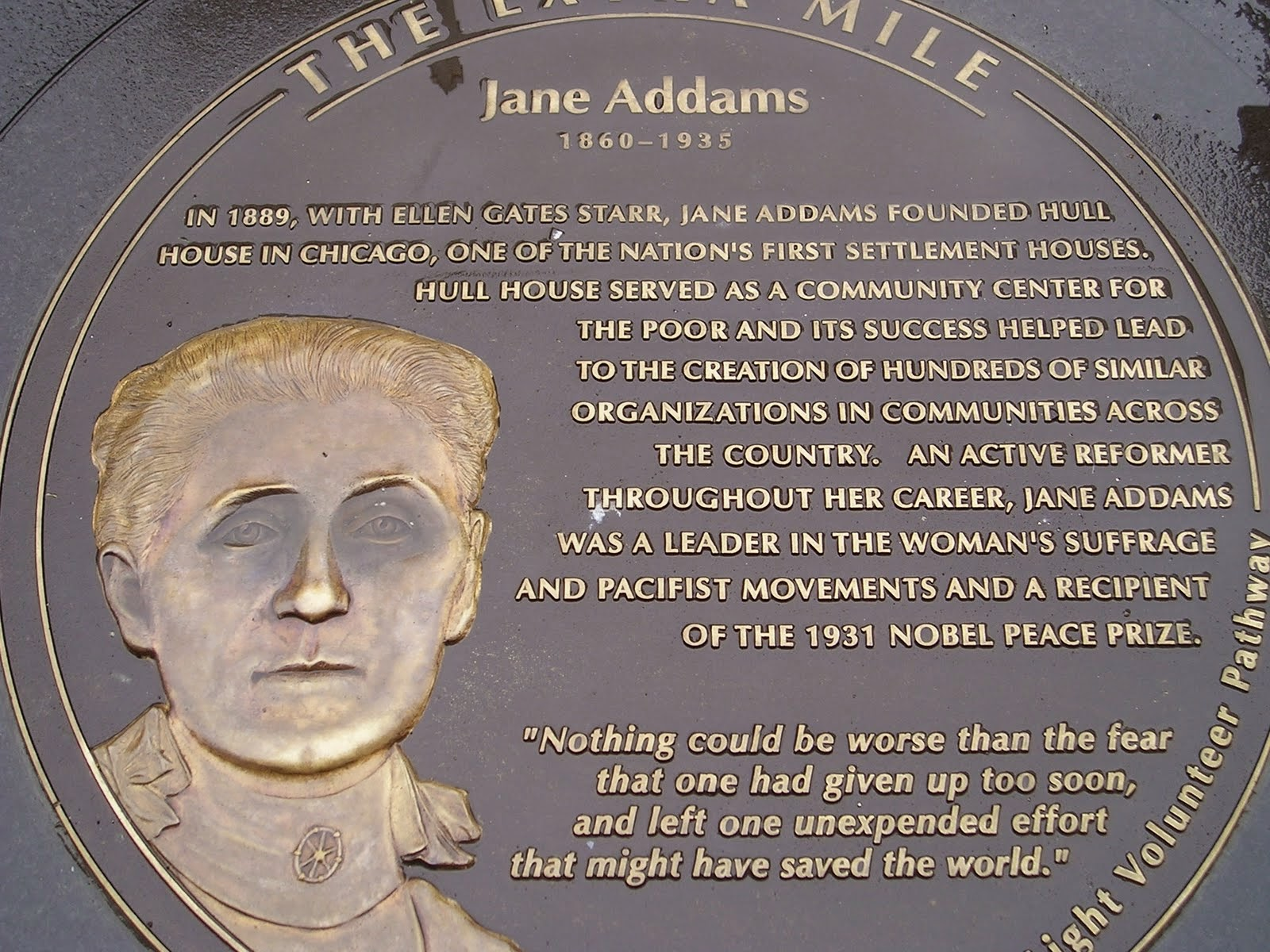 clancy tucker's blog: 25 october 2014 - jane addams - social reformer