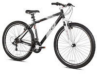 """Kent Thruster T-29 Mountain Bike, with lightweight aluminum 18"""" frame, large 29"""" wheels, hardtail front suspension system, 21 speeds"""