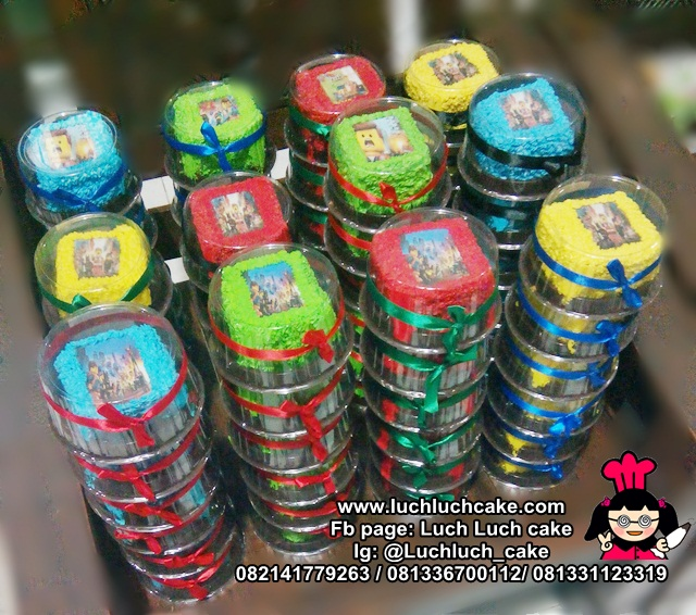 Souvenir Ulang Tahun Mini Cake Lego Movie