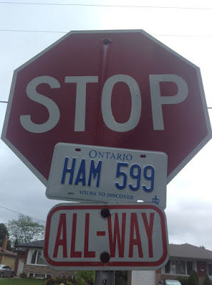 VE3SP - CANADA Vehicle HAM Amateur Radio Personalized licence plate HAM 599