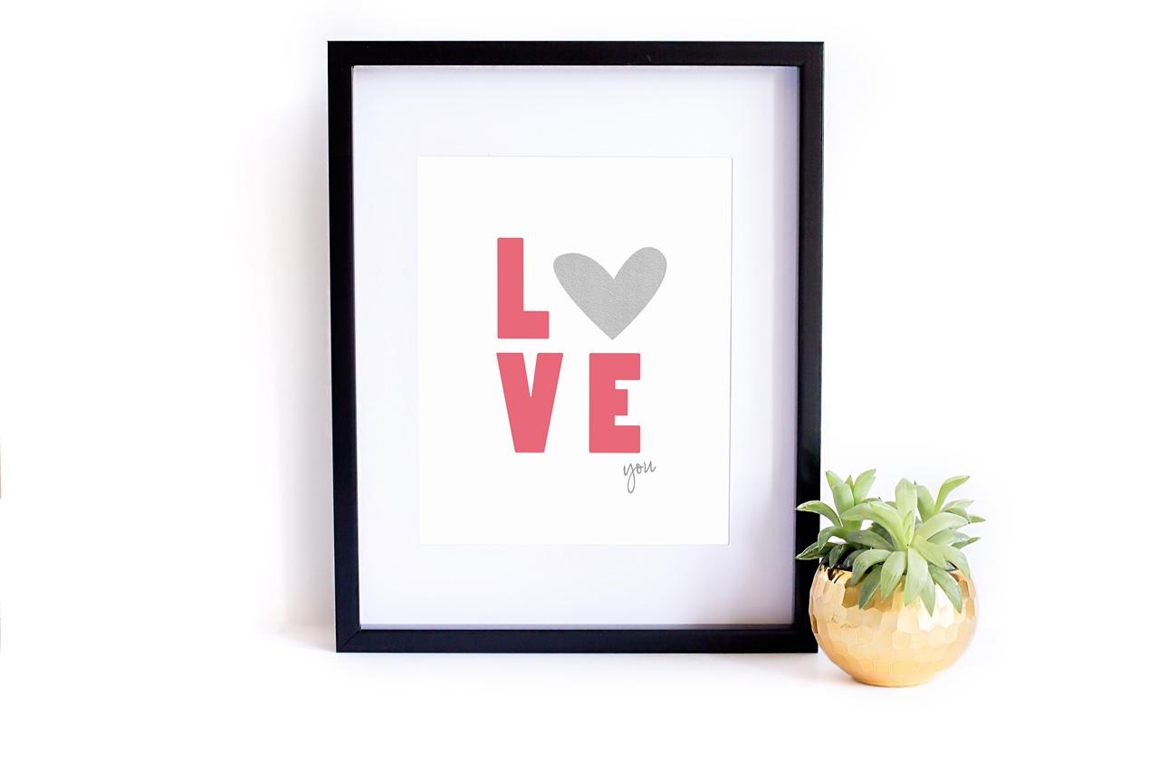 Miłosny plakat do druku do pobrania  Pernisckety Prints - Love