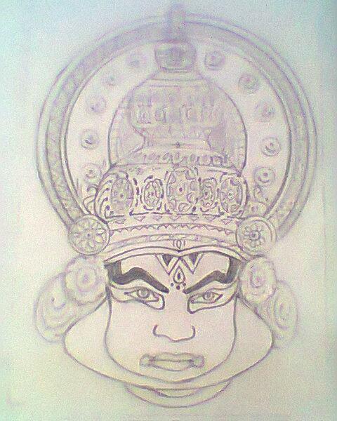 My Art Channel Kathakali In Black White Pencil Sketch