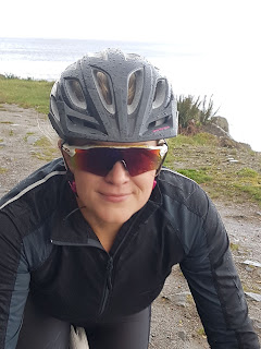 road biker in oakley sunglasses woman