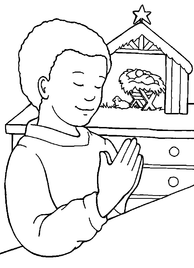 Religious Prayer Coloring Pages Sketch Coloring Page