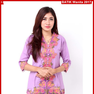 A9TBD Baju Batik Modis Kebaya Helona Ungu Bj99A9