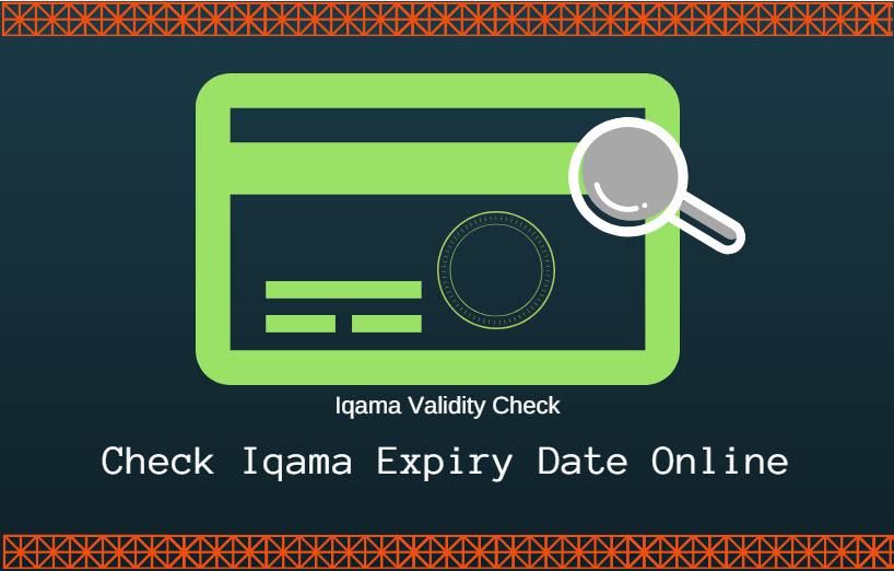 Check Iqama Expiry Date Validity Via Moi Online