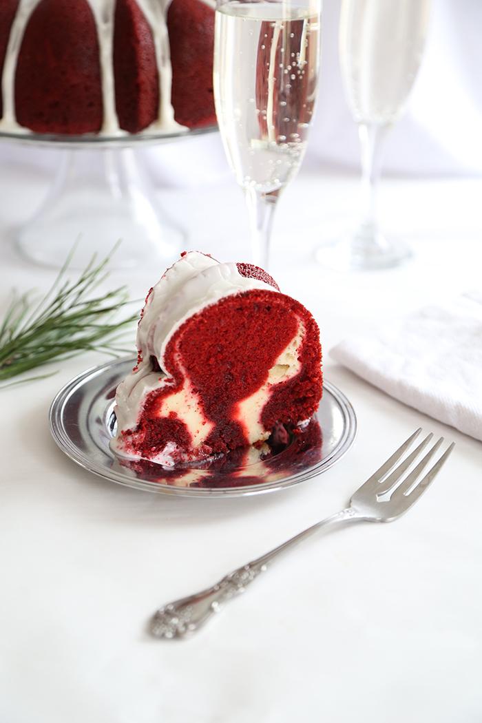 Red Velvet Cream Cheese Swirl Bundt Cake Sprinkle Bakes