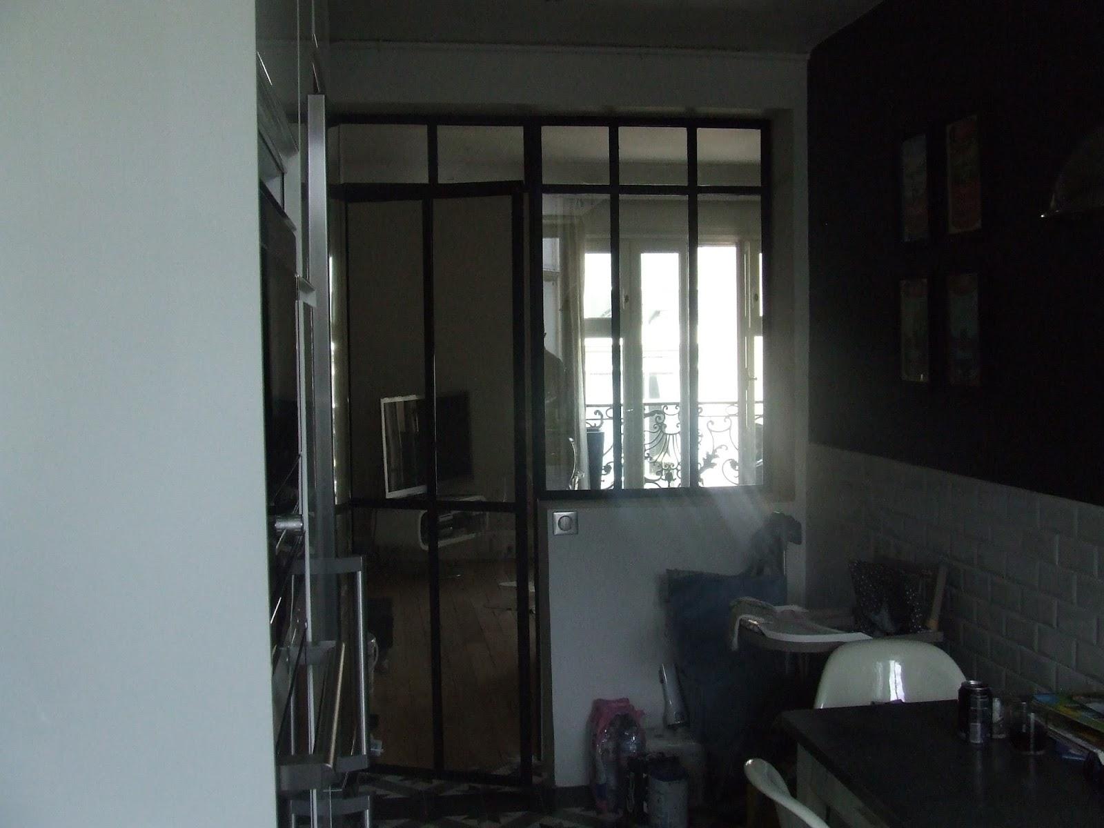 verri re int rieure porte vitr e s paration cuisine salon ferronnerie le fur. Black Bedroom Furniture Sets. Home Design Ideas