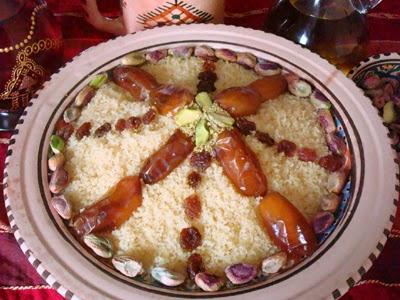 recette de masfouf ou couscous sucré
