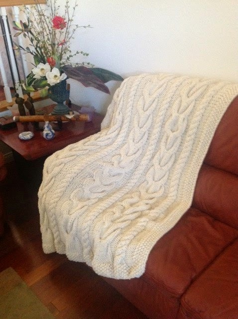 Cable Knit Afghan