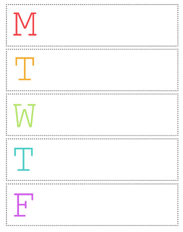 Schedule Wall with Printable Calendar Crafting in the Rain - weekly printable calendars