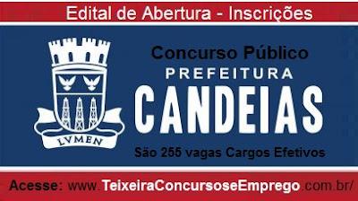 Edital Concurso Público Prefeitura de Candeias (BA)