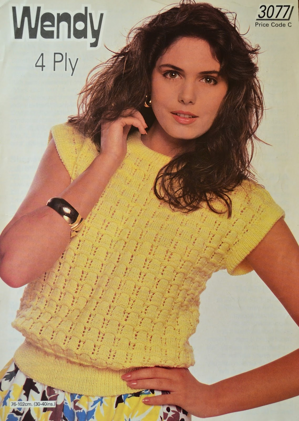 1c65d970f3d6 Vintage 1980s Knitting Pattern - Wendy Ladies  Top Knitting Pattern no 3077