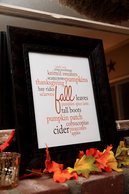 My Favorite Things About Fall: A Printable