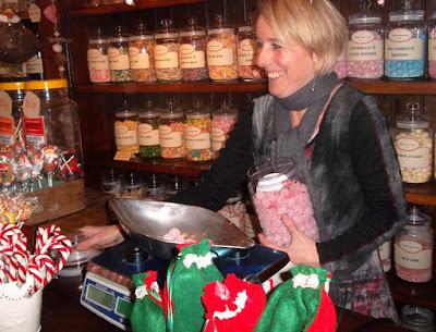 Proprietor Natalie serving a customer at Sankey's Sweet Shop in Brigg - see Nigel Fisher's Brigg Blog