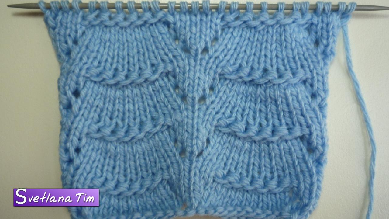 мастер класс вязание спицами ажурных