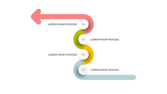 4 Step Process Powerpoint Arrow Diagram Infographic Templates Slide1