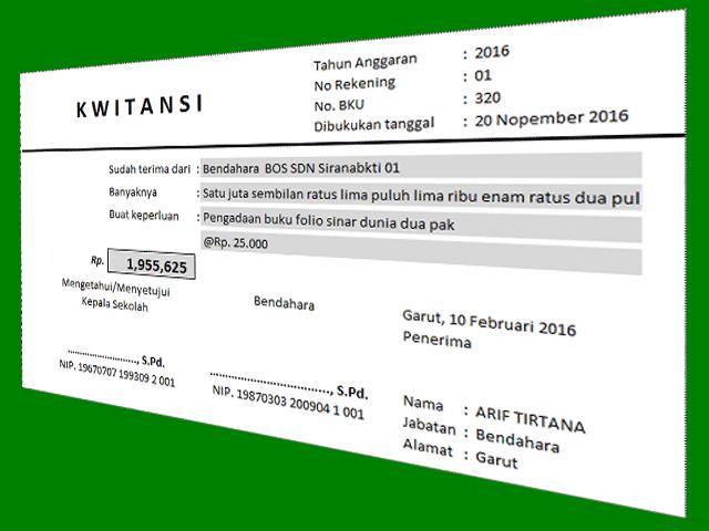 Unduh Aplikasi Cetak Kwitansi dengan Format Excel