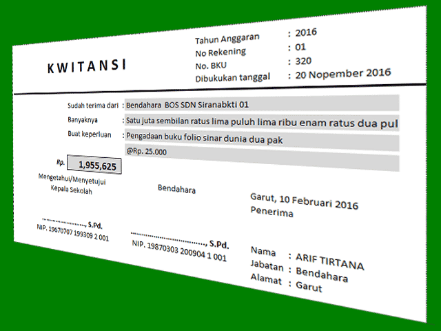 Download Aplikasi Cetak Kwitansi BOS Terbaru