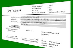 Contoh Aplikasi Cetak Kwitansi dengan Format Excel