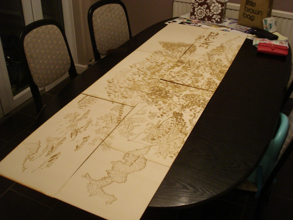 Laser Cut World Map.Project 16 Empire World Map