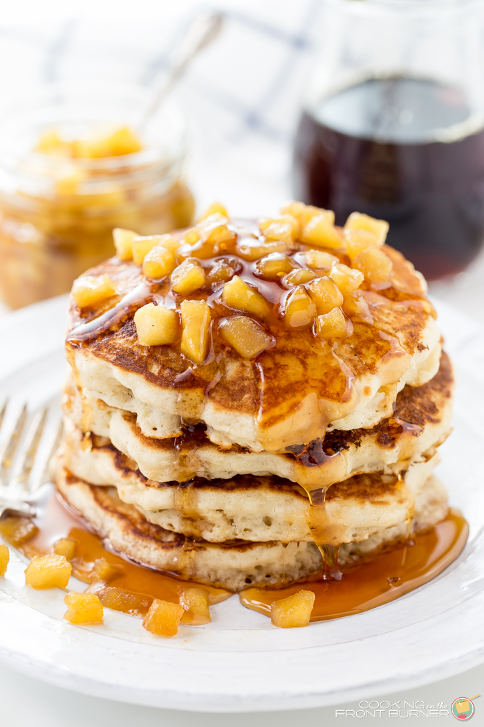 Apple Pancakes with Apple Maple Sauce | Cooking on the Front Burner