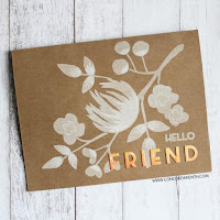 Die cut wood veneer sentiment - Concord & 9th