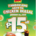 Mang Inasal marks Pambansang Araw ng Chicken Inasal on Jan. 26 with P15 off on select Chicken Paborito Value meals