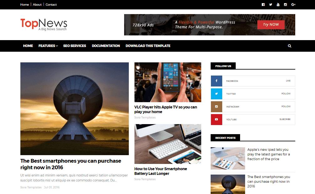 Top News Blogger Templates - Rclipse Home   Entertainment, Education ...