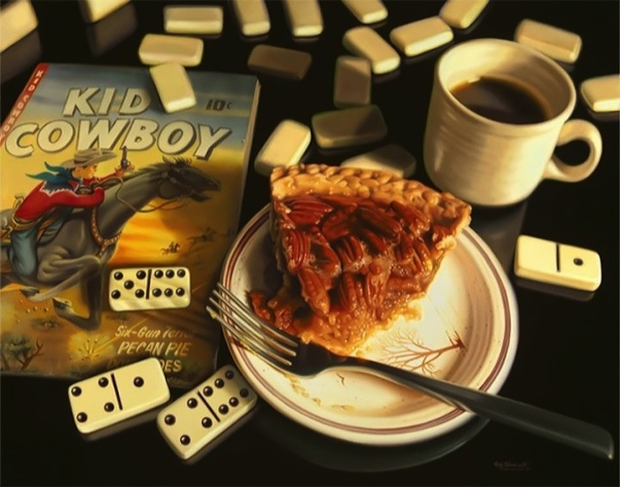 13-Kid-Cowboy-Pecan-Pie-Doug-Bloodworth-Vintage-Comics-in-Hyper-Realistic-Painting-www-designstack-co