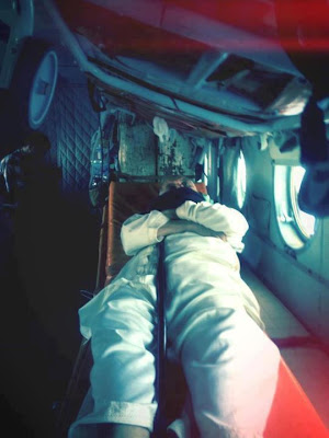 Dr. Baghdadi mahmudi during his transfer from Tunisia to Libya in a helicopter . Whether justice can fall lower?