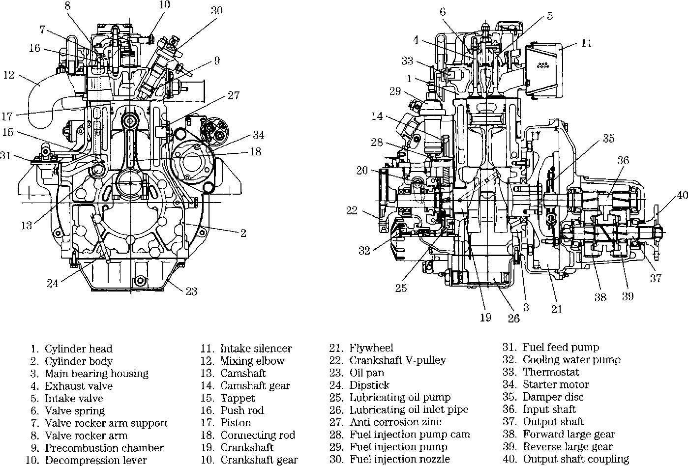 combustion engine parts diagram
