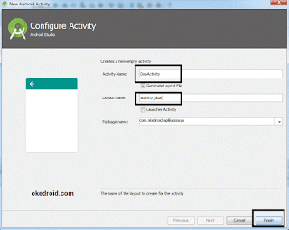 Konfigurasi Activity Baru Android Studio