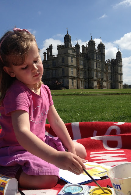 painting at burghley house